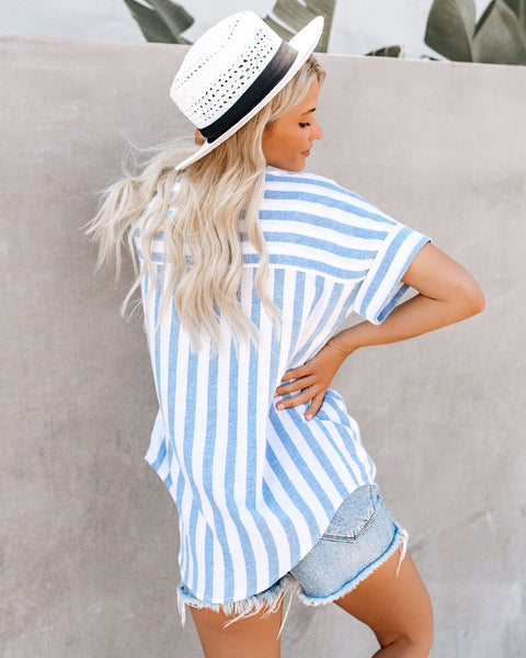 PREORDER - Melissa Striped Linen Blend Top