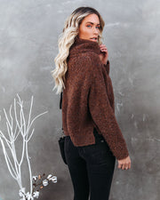 Menlo Cowl Neck Knit Sweater - Brown