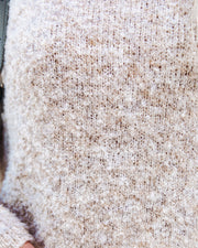 Menlo Cowl Neck Knit Sweater - Oatmeal - FINAL SALE view 4