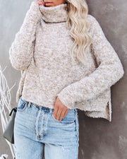 Menlo Cowl Neck Knit Sweater - Oatmeal - FINAL SALE view 11