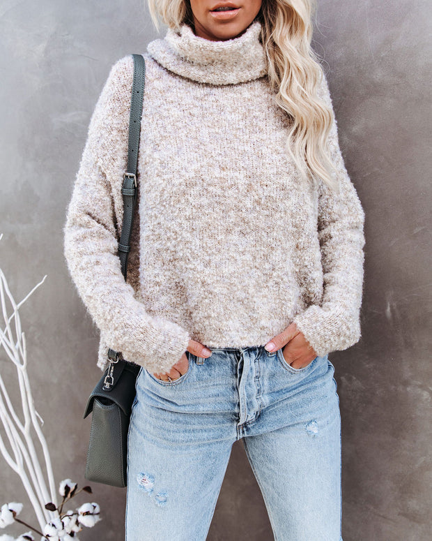 Menlo Cowl Neck Knit Sweater - Oatmeal - FINAL SALE view 7