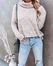Menlo Cowl Neck Knit Sweater - Oatmeal - FINAL SALE view 3