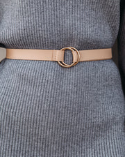 Mercer Faux Leather Belt - Natural