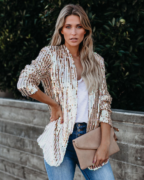 Merry Bells Sequin Blazer - FINAL SALE