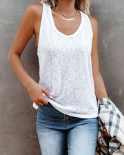 Michelle Racerback Tank - White view 7