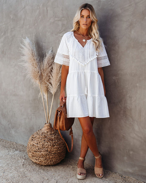 Midsummer Tiered Crochet Tassel Dress
