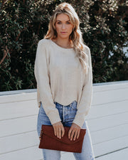Miley Scalloped Knit Sweater  - FINAL SALE
