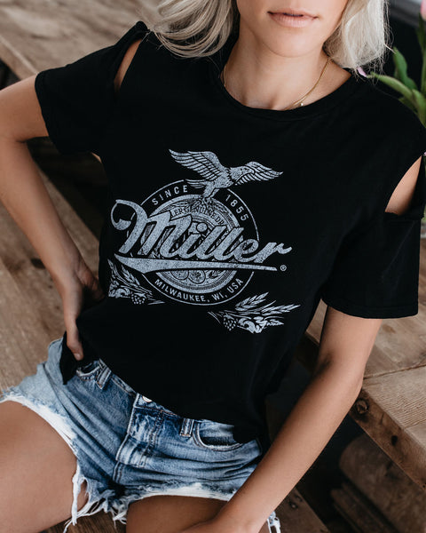 Miller Genuine Draft Cotton Blend Cutout Tee