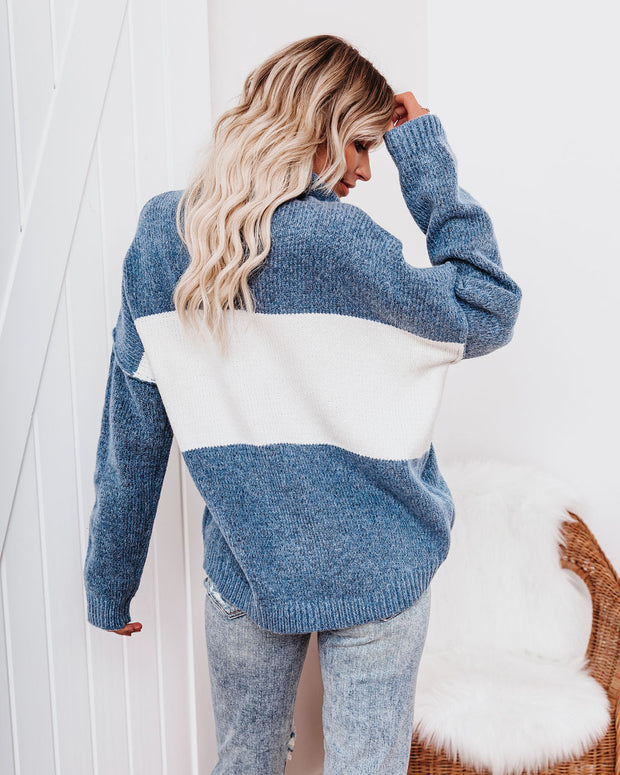 Mingle Colorblock Turtleneck Sweater view 2