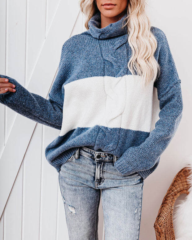 Mingle Colorblock Turtleneck Sweater view 7