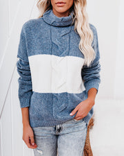 Mingle Colorblock Turtleneck Sweater view 10