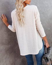 PREORDER - Miriam Button Down Knit Top - Warm Vanilla