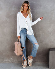 Miriam Button Down Knit Top - White view 1