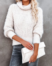 Misha Cropped Turtleneck Knit Sweater - FINAL SALE