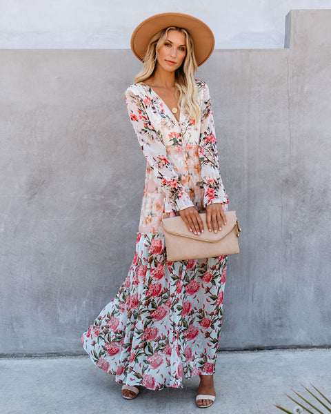 Mix + Mingle Long Sleeve Button Down Maxi Dress