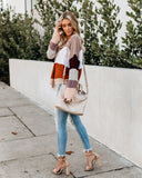 Mochaccino Striped Distressed Sweater