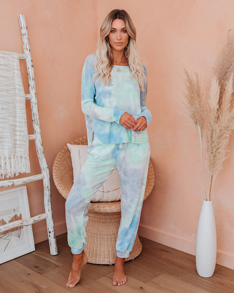 Mockingbird Pocketed Tie Dye Knit Joggers