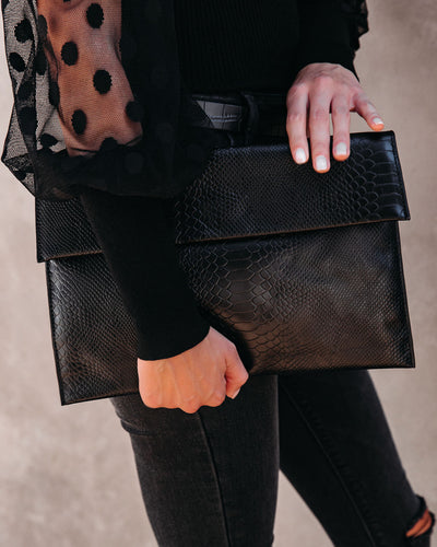 Molly Crossbody Clutch - Black