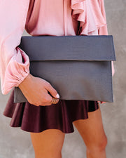 Molly Crossbody Clutch - Grey