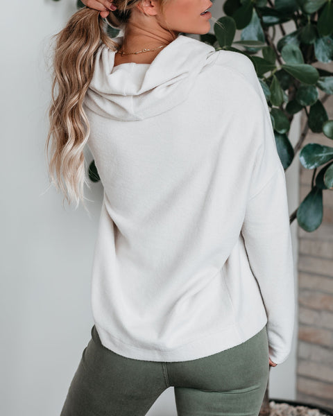 Mom And Pop Cowl Neck Fleece Top - FINAL SALE