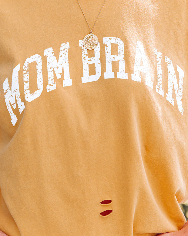 Mom Brain Distressed Cotton Tee view 4