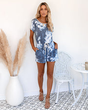 Momentum Pocketed Tie Dye Knit Romper - FINAL SALE