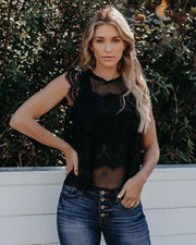 Monarch Lace Tank - Black - FINAL SALE