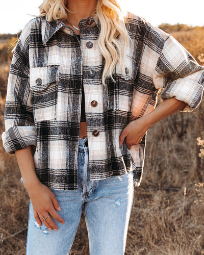 Montgomery Distressed Plaid Shacket