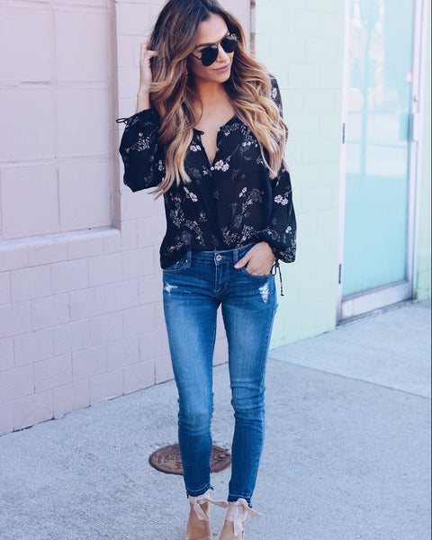 Moon River Floral Blouse