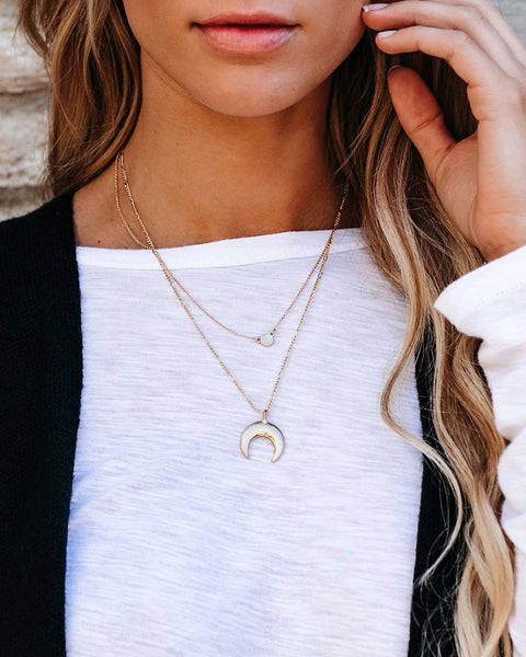 Moon Is A Loyal Companion Layered Necklace