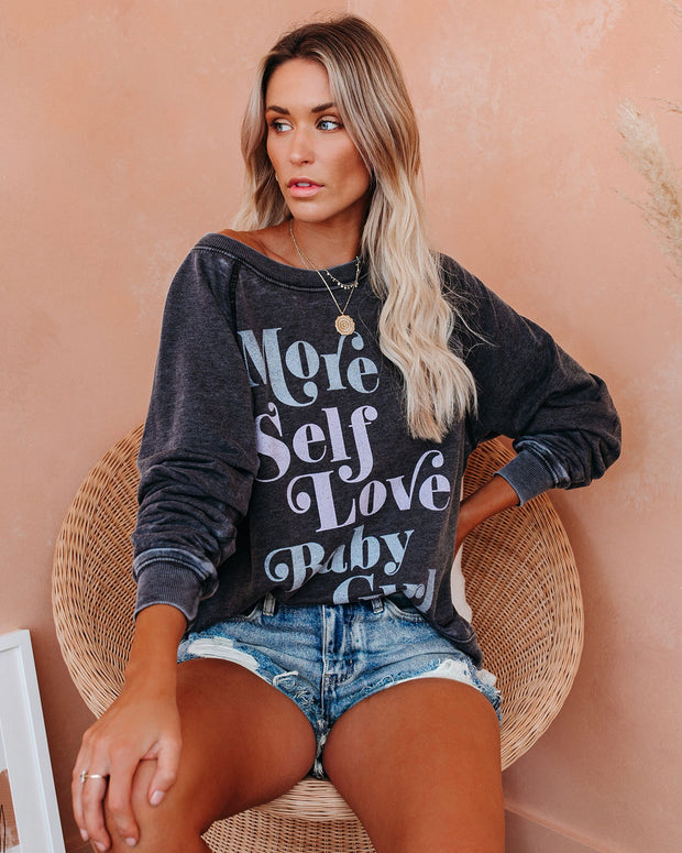 More Self Love Baby Girl Vintage Pullover