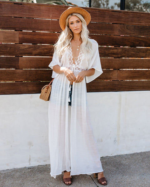 Morning Of Lace Duster Kimono - FINAL SALE