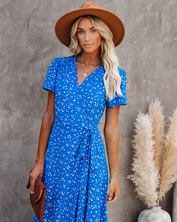 Motion Of The Ocean Printed Wrap Maxi Dress