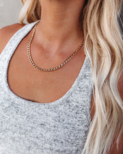 Moxie Simple Chain Necklace - Gold view 1