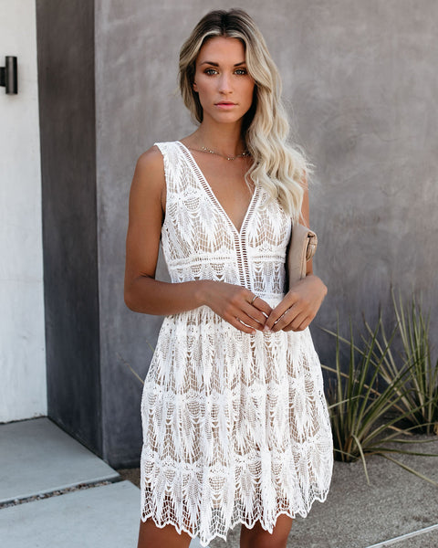 My Better Half Crochet Lace Dress - FINAL SALE