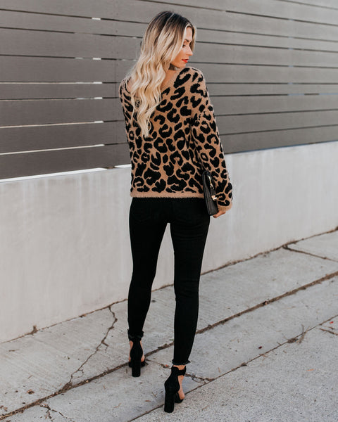 Nala Fuzzy Knit Leopard Sweater
