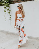 Neopolitan Floral Slit Pants - FINAL SALE