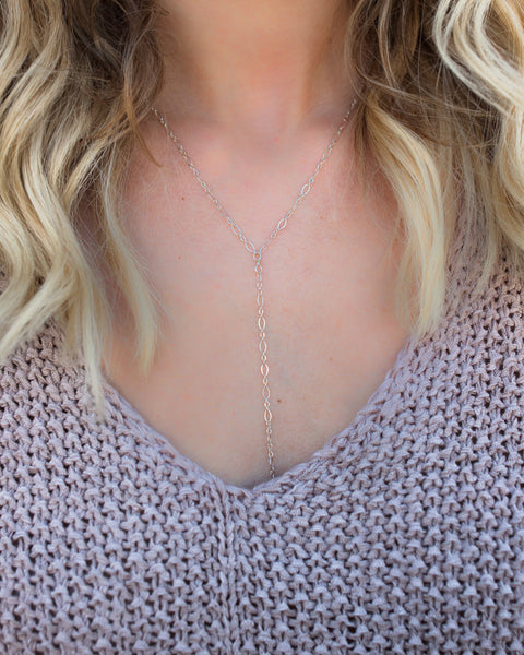 MARRIN COSTELLO - Lariat Necklace - Silver