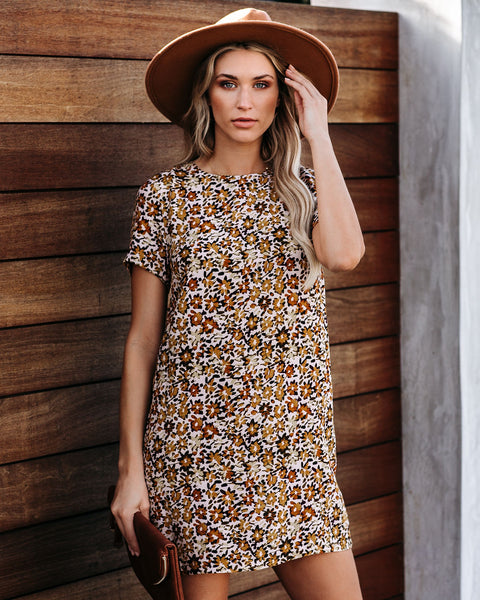 Never Dim Your Light Floral Shift Dress