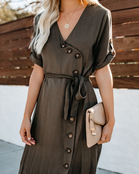 Newcastle Button Down Midi Dress