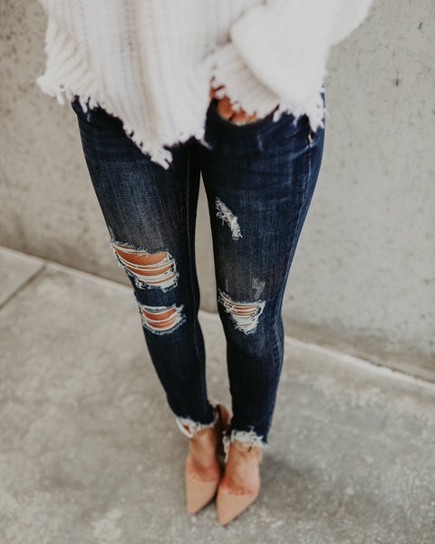 City Life Frayed Distressed Skinny