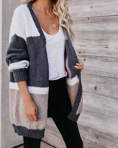New Kid On The Color-Block Knit Cardigan - FINAL SALE