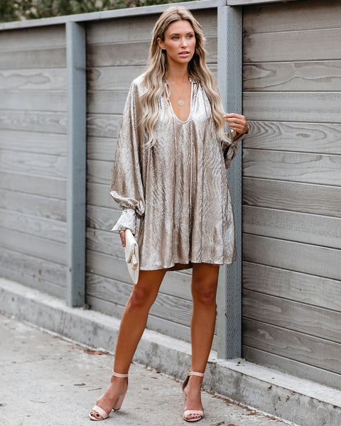 New Year's Resolution Metallic Dress