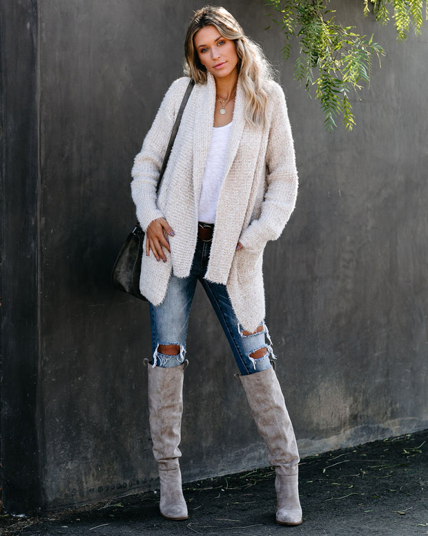Next Level Luxe Pocketed Cardigan - Beige - FINAL SALE