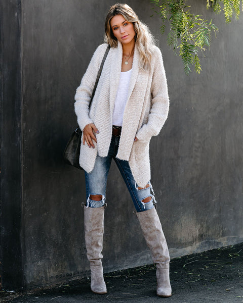 Next Level Luxe Pocketed Cardigan - Beige