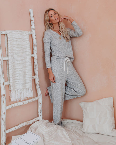 Night Owl Cotton + Modal Knit Pants - Heather Grey