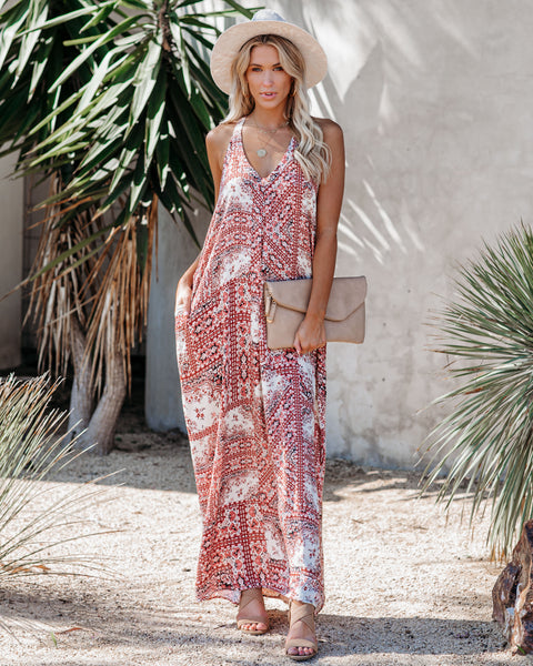 Niles Printed Pocketed Maxi Dress