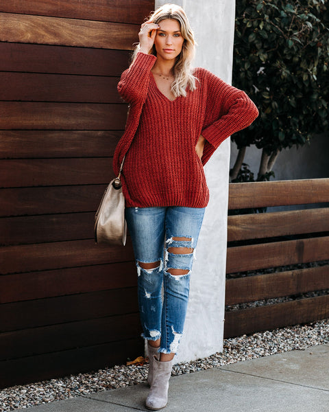 Noel Cable Knit Chenille Sweater - Ginger  - FINAL SALE