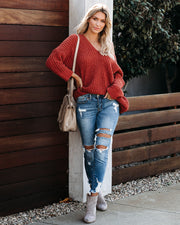 Noel Cable Knit Chenille Sweater - Ginger