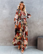 PREORDER - Nothing Bud Love Floral Studded Maxi Dress